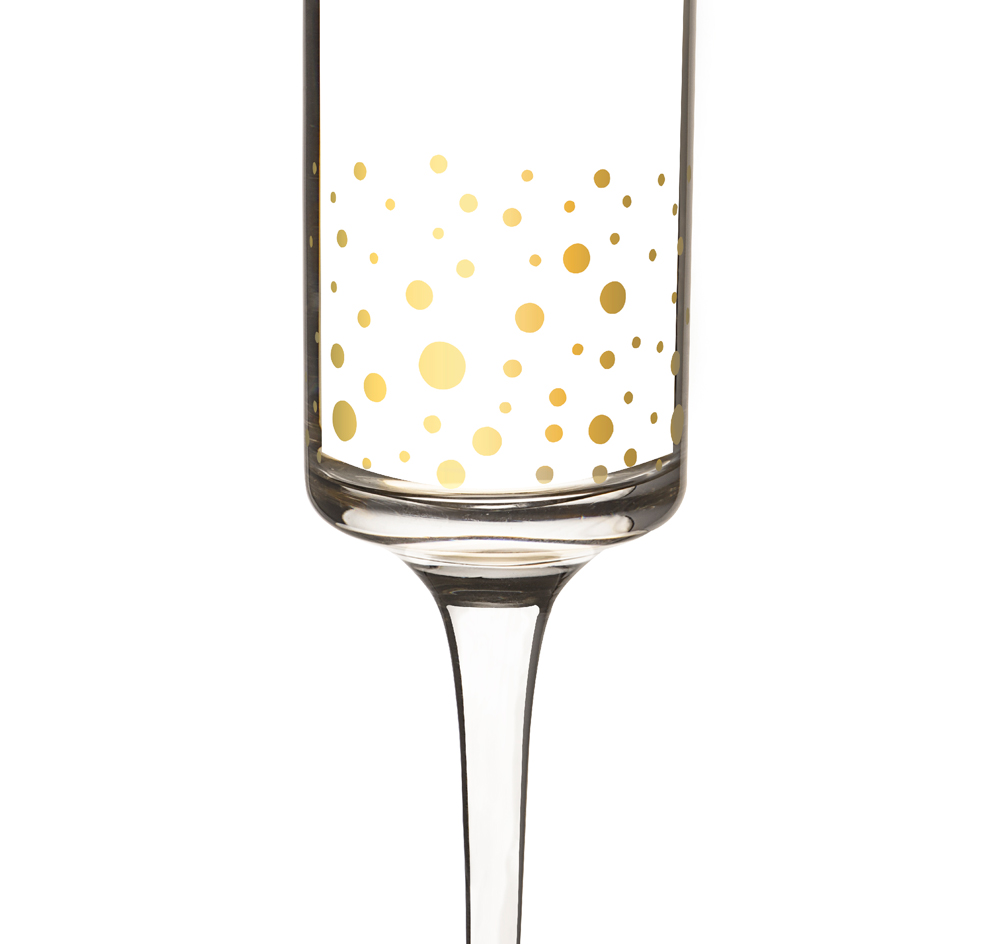 Fresh Mr & Mrs Gold Dotted Champagne Flutes | Wedding Champagne Flutes FE53