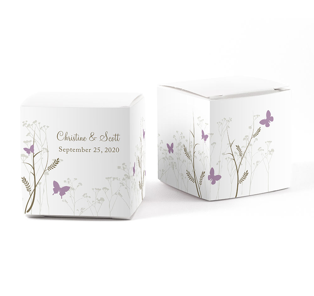 Romantic Butterfly Wedding Favor Wraps | Favor Box Wraps
