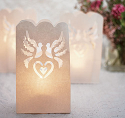 White Paper Wedding Luminaries