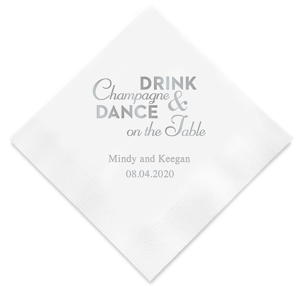 Champagne Dance Personalized Napkins