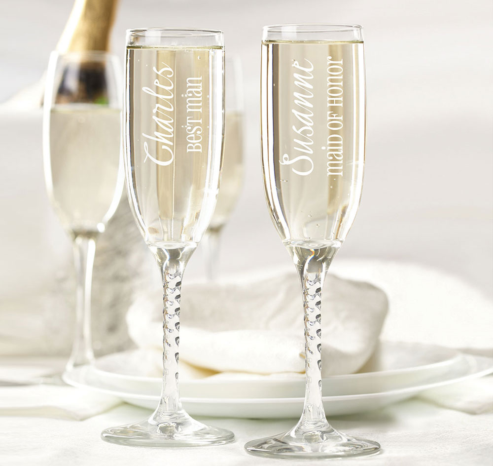 Wedding Party Toasting Glasses| Wedding Party Flutes