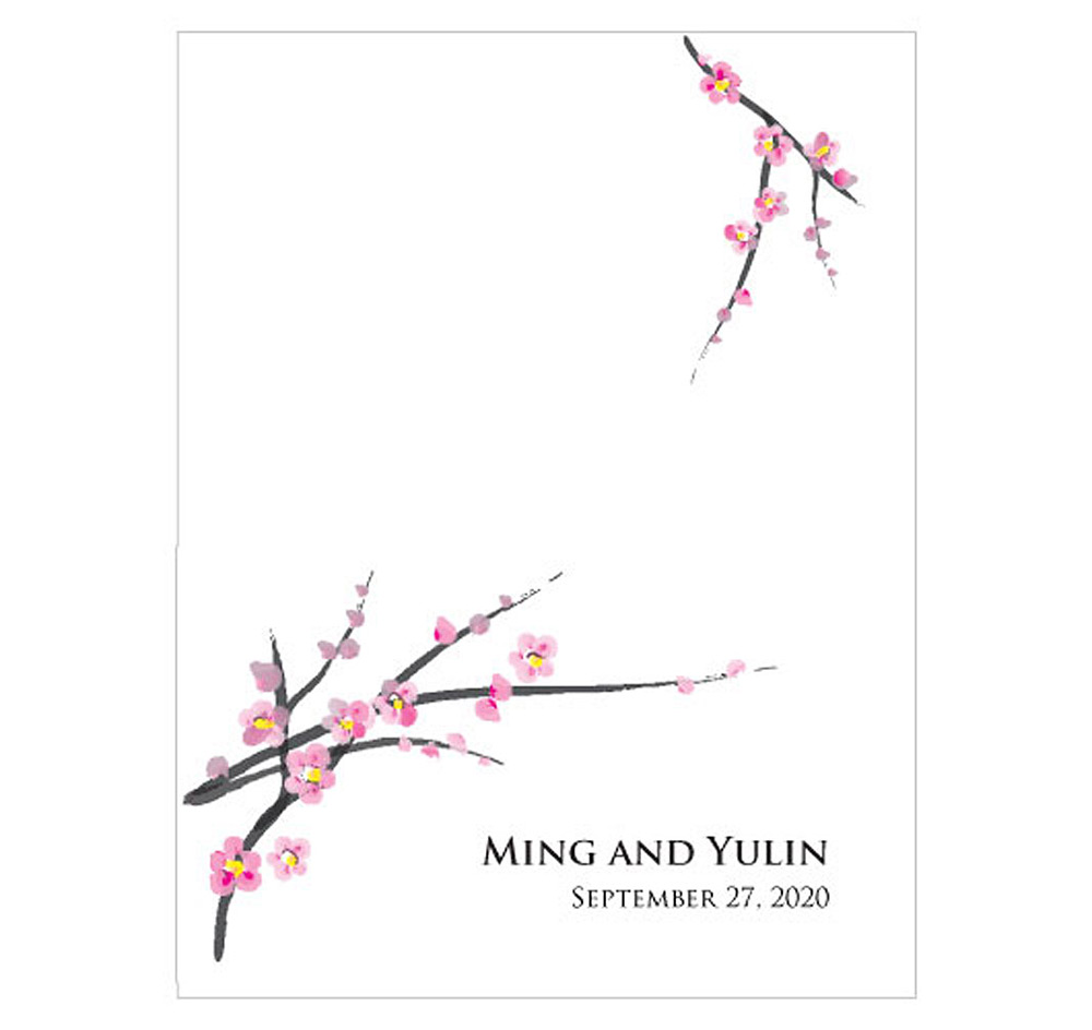 Cherry Blossom Wedding Place Cards | Wedding Place Cards ...
