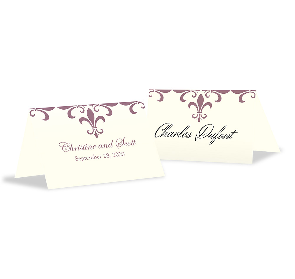Fleur de lis wedding place cards wedding place cards fleur de lis wedding place cards magicingreecefo Gallery