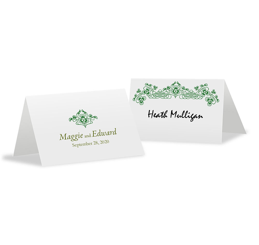 Luck of the Irish Wedding Place Cards | Personalized Place Cards