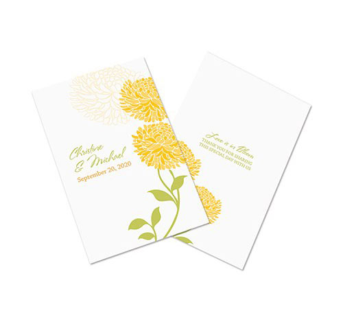 zinnia bloom wedding programs wedding bulletins