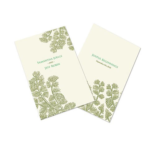 evergreen wedding programs wedding program paper