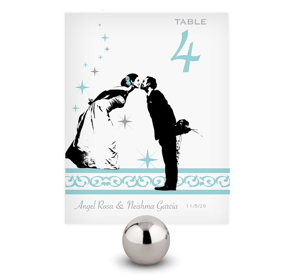 Vintage Hollywood Wedding Table Numbers | Personalized Table Numbers