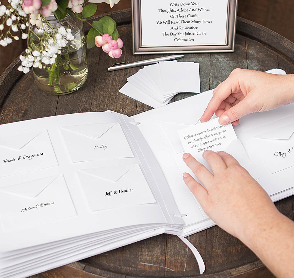 Wedding Wish Cards Guest Book