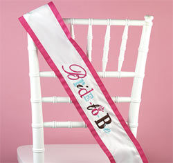 White Bride-to-Be Sash