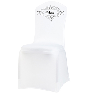 White Bride Chair Cover