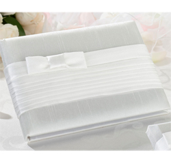 White Silk Guest Book