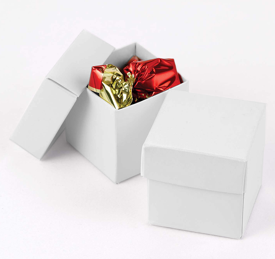 Wedding Favor Boxes White : White shimmer favor boxes