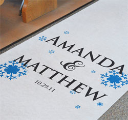 Personalized Winter Wedding Aisle Runner