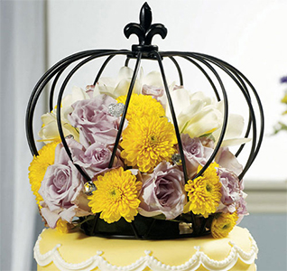 Wire Crown Cake Topper