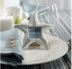 Small Wooden Starfish Picture/Photo Frames for Wedding Table Numbers/ Place Card Holders/ Wedding Gifts/ Favors