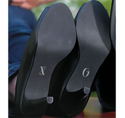 X O Shoe Decal