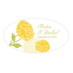 Zinnia Small Window Cling