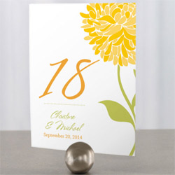 Zinnia Table Numbers