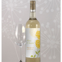 Zinnia Wine Bottle Label
