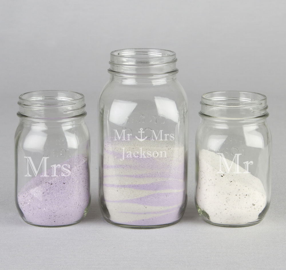 Anchor Sand Ceremony Mason Jar Set | rustic sand ceremony set