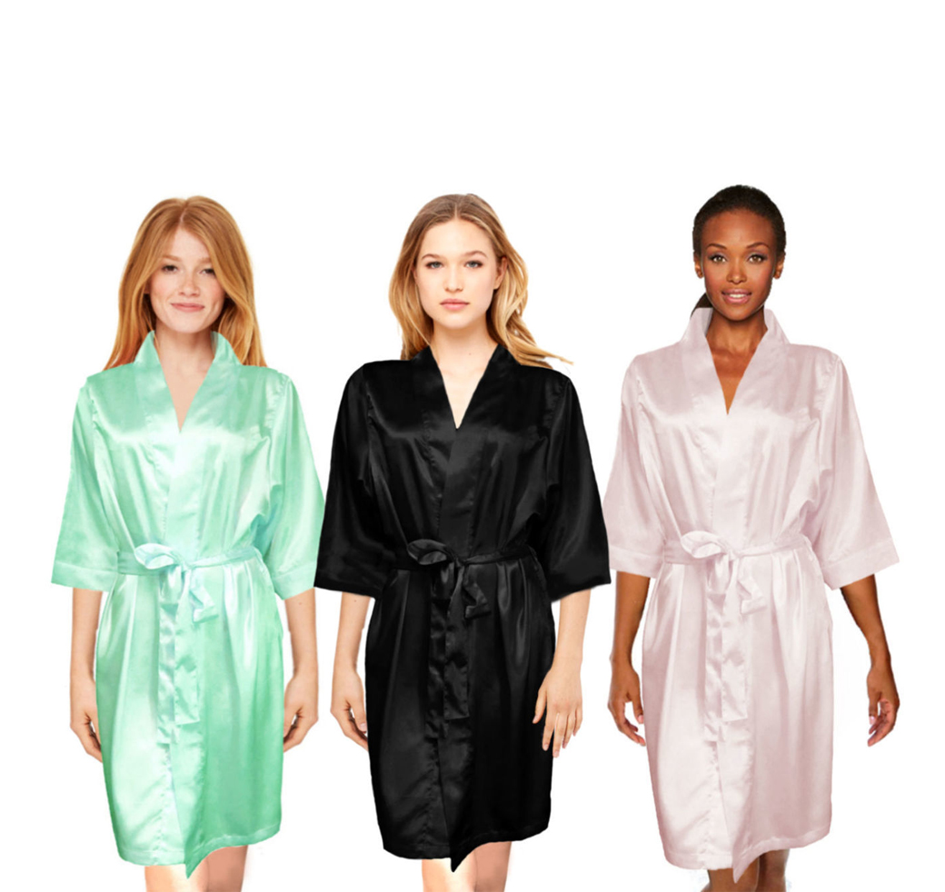 Glitter bridal party satin robe glitter bridesmaid robes 2001 2018 the wedding outlet ombrellifo Gallery