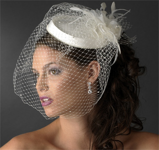 Birdcage Bridal Veil With Hat Headpiece