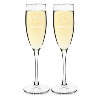Etched Toasting Glasses