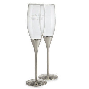 Silver Toasting Flutes