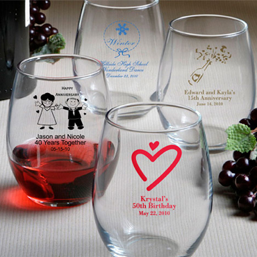 Custom Wine Glass Favors