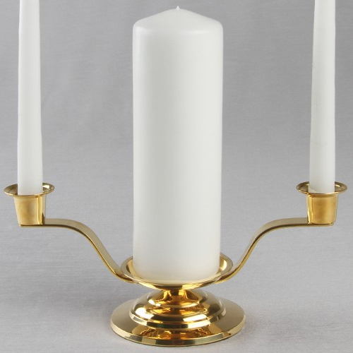 goldbrass unity candle holders