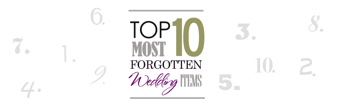 Top Most Forgotten Items