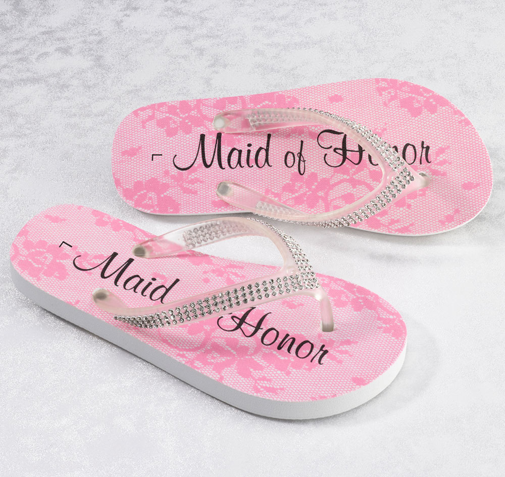 Maid of Honor Flip Flops | Wedding Party Flip Flops