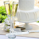Wedding Flutes & Server Sets