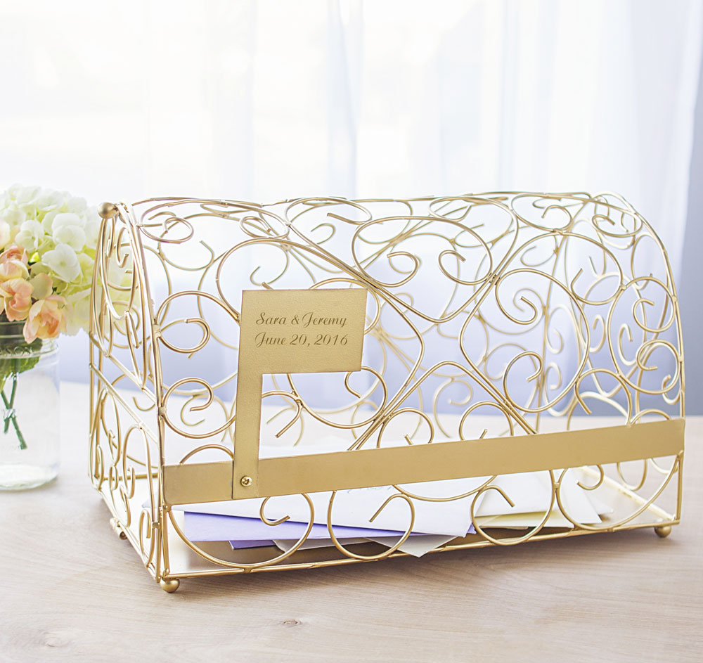 gold mailbox wedding card holder wedding card box