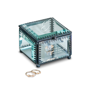 Jewelry box bridesmaid jewelry boxes for Jewelry box with initials