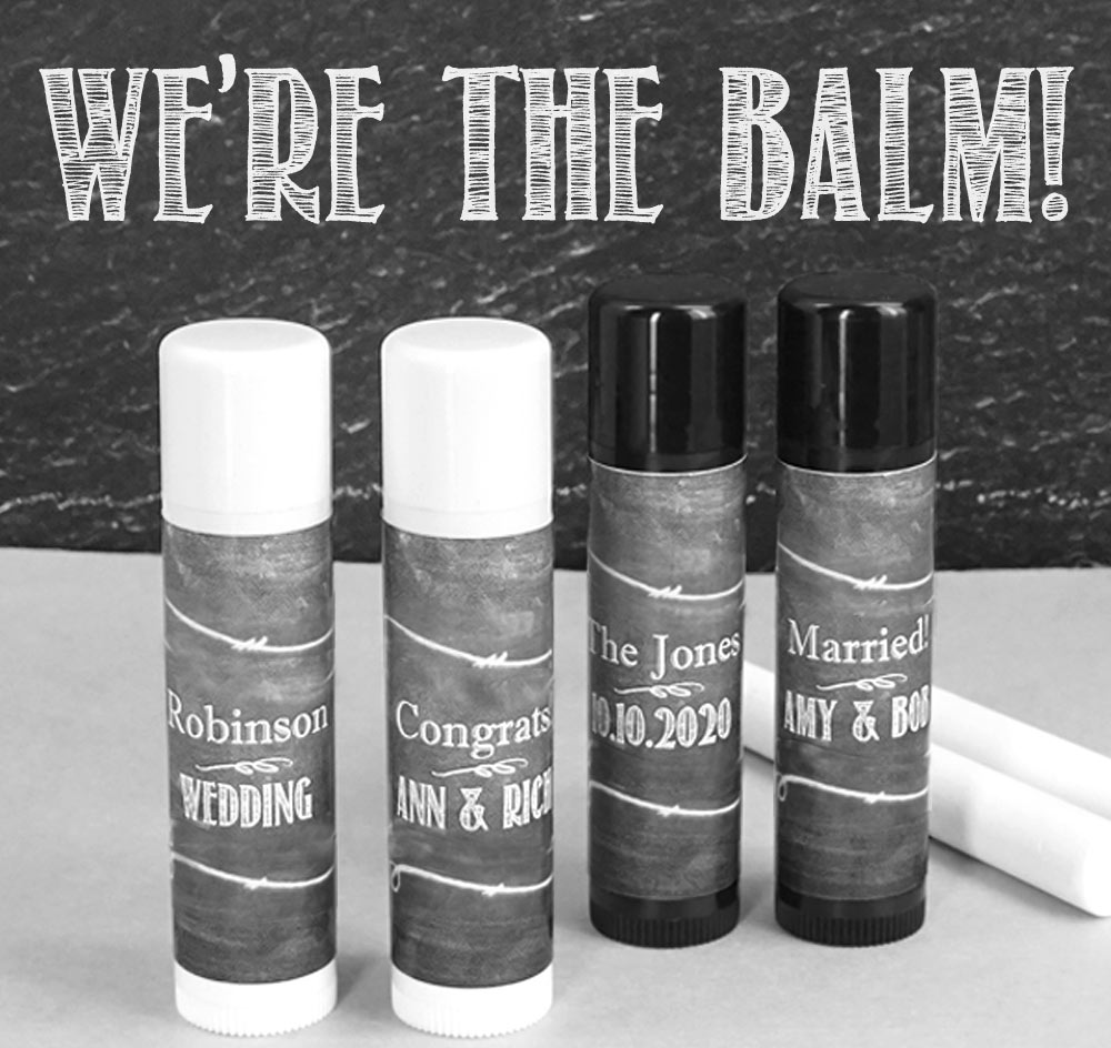 Personalized Lip Balm Wedding Favors Chapstick Wedding Favors