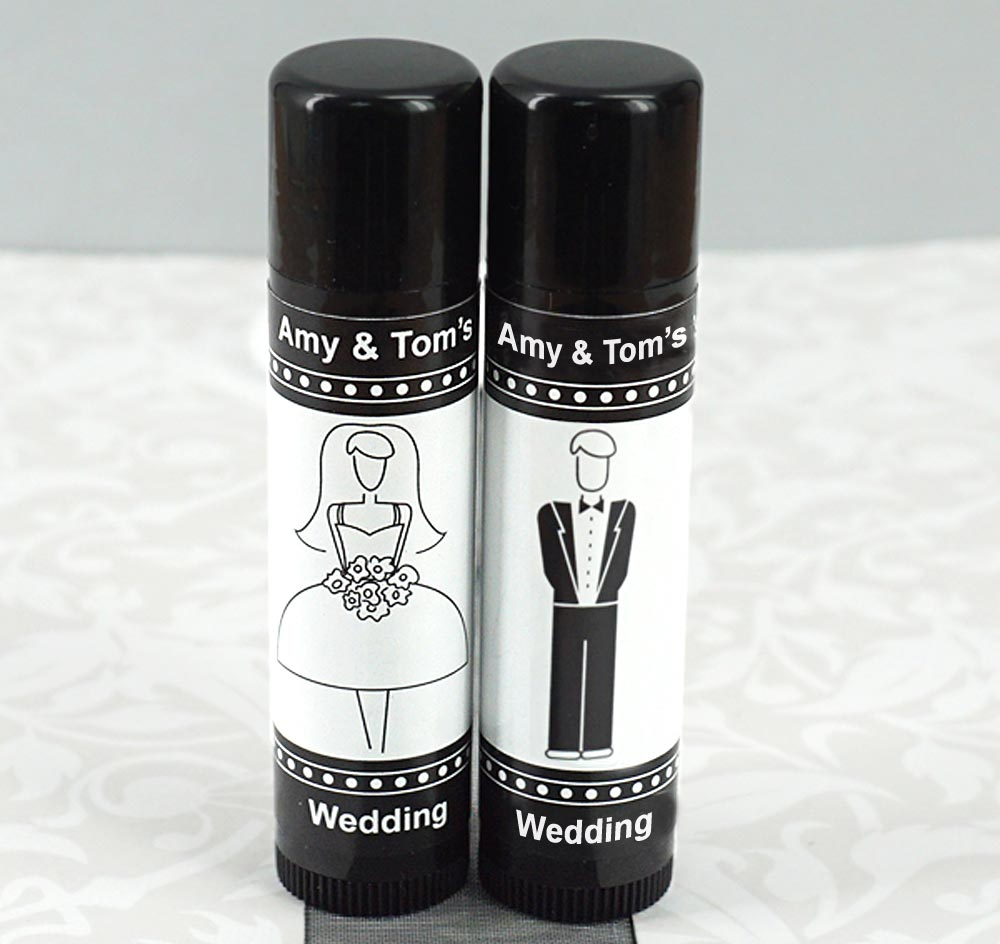 Bridal Party Lip Balm Favors Chapstick Wedding Favors