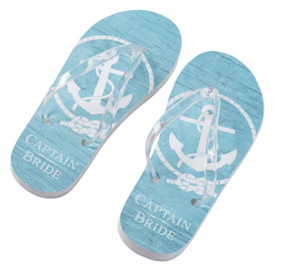 641e2e9fe Nautical Flip Flops - Captain Bride