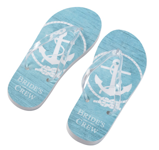 71ccf101f Nautical Flip Flops - Bride s Crew