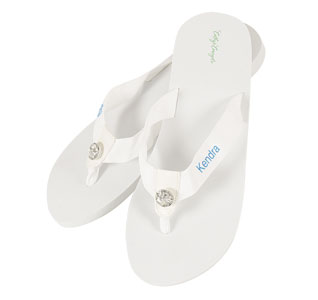 3cd5b84f5c83 Personalized White Wedding Flip Flops