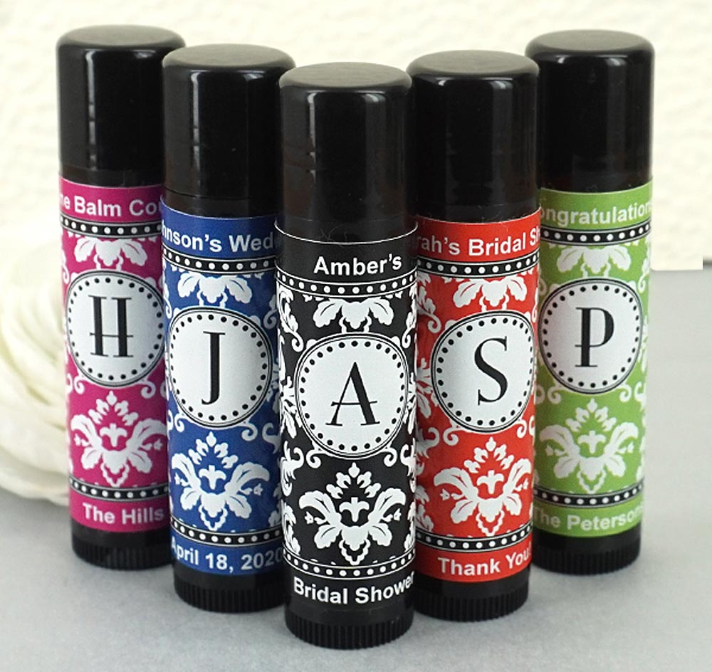 Black Lip Balm Wedding Favors Chapstick Wedding Favors