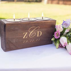 Rustic Monogram Sugar Mold Candle Holder