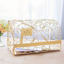 Gold Gift Card Mailbox Holder