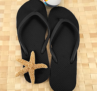 410f9dfa964408 Black Guest Flip Flops (Set of 6)