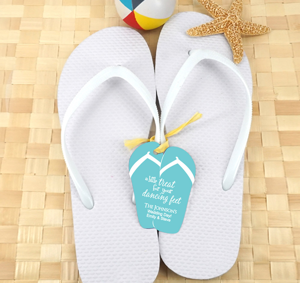 cd8cf39178f White Guest Flip Flops w  Flip Flop Tags (Set of 6). Zoom. More Images