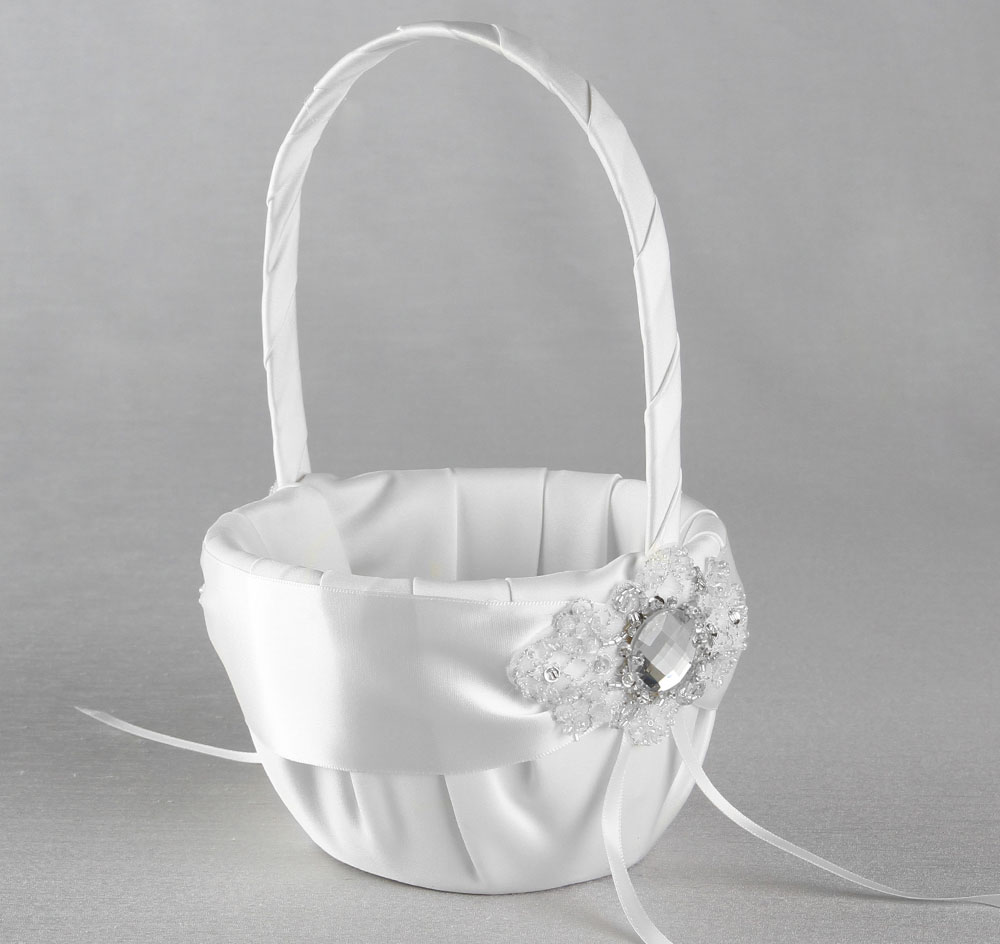 Elizabeth Flower Girl Basket Vintage Flower Girl Basket