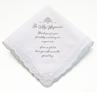 embroidered handkerchiefs wedding son step mom hankie wedding hankies handkerchiefs